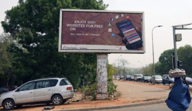 Billboard for FreeBasics, a service from Facebook.